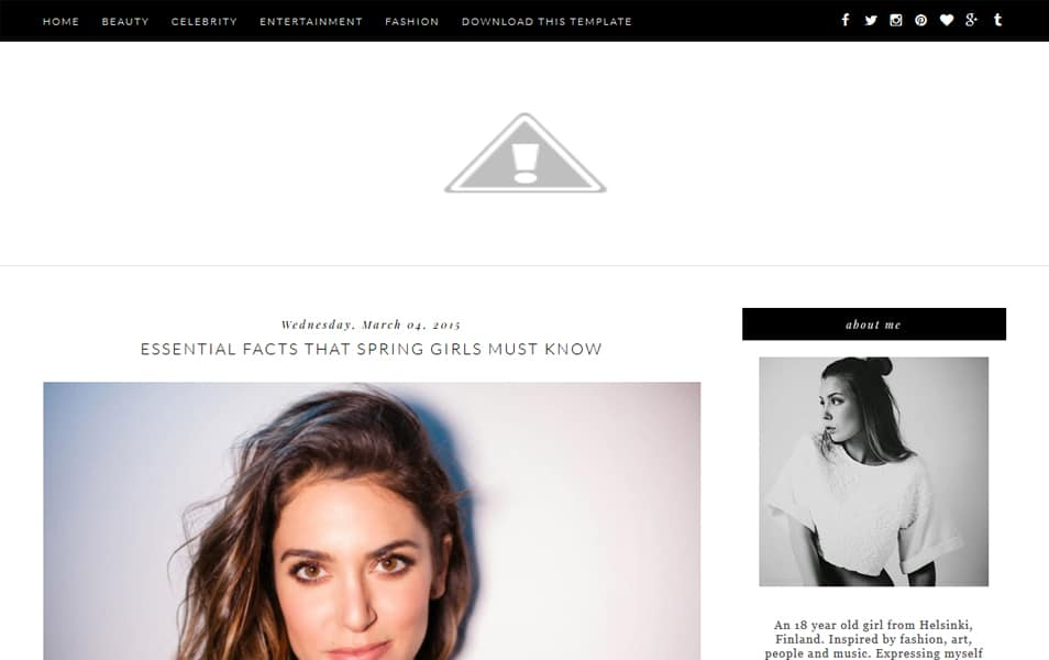 Glam Up Responsive Blogger Template
