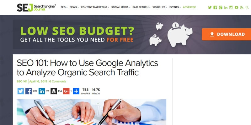 How to Use Google Analytics to Analyze Organic Search Traffic