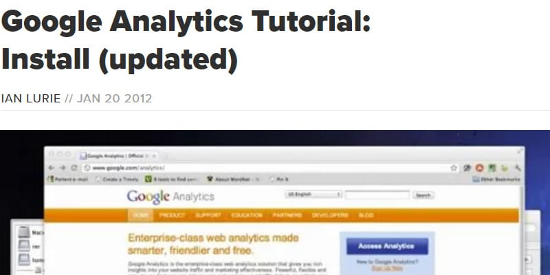 Installing Google Analytics on Your Site