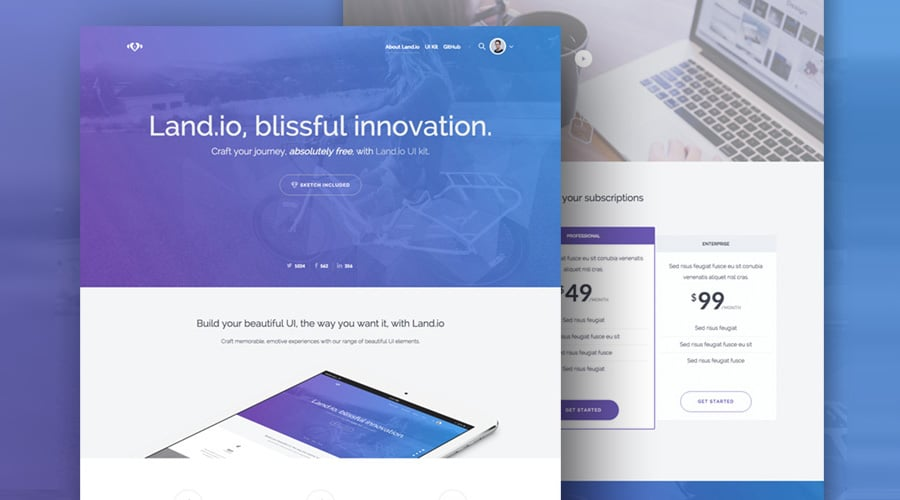 Land.io Landing Page Template