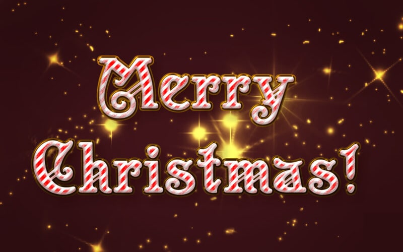 Merry Christmas Text Style PSD