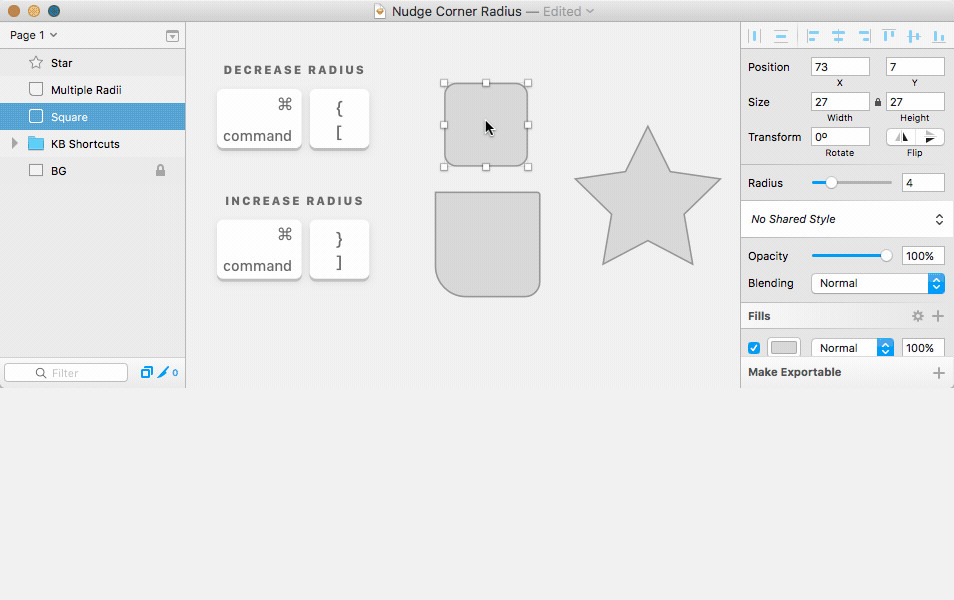 Nudge Corner Radius Sketch Plugin