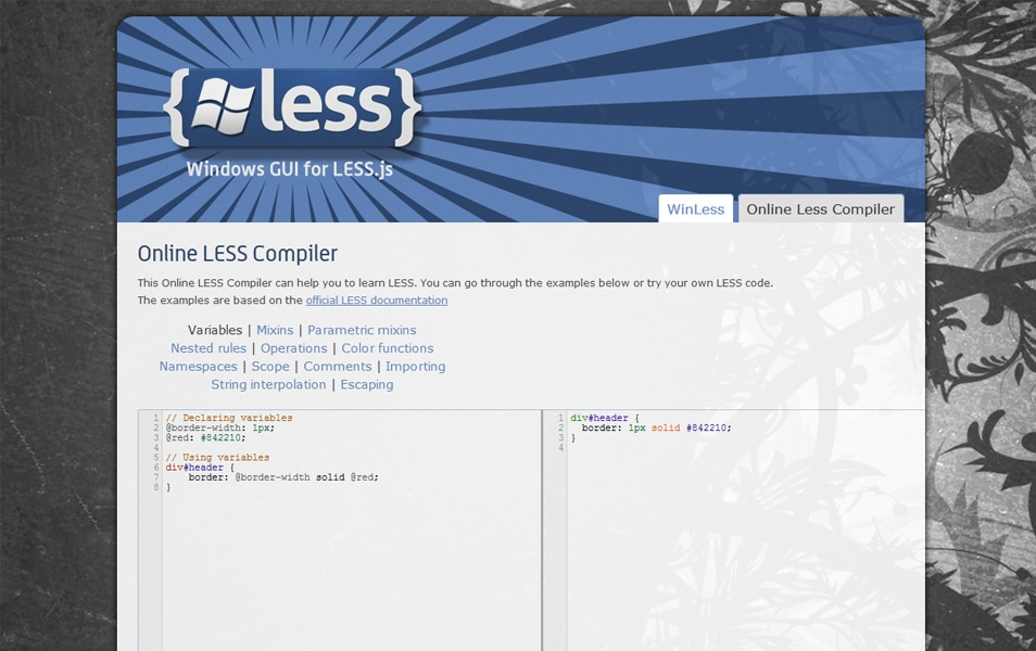 Online LESS Compiler