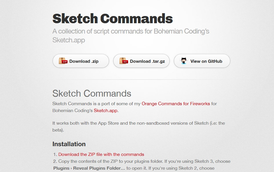 Sketch Commands