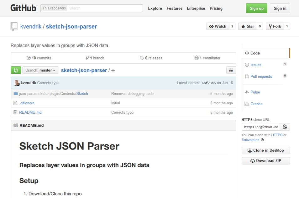 Sketch JSON Parser