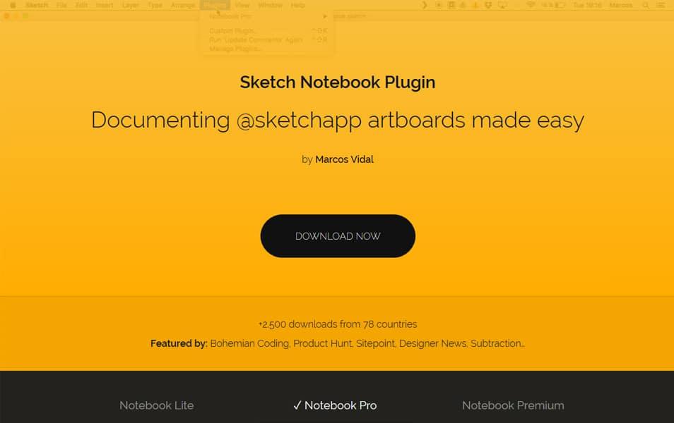 Sketch Notebook Plugin