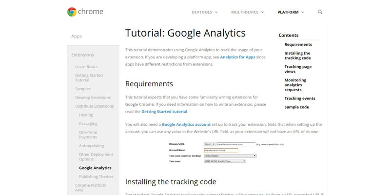 Tutorial for Google Analytics