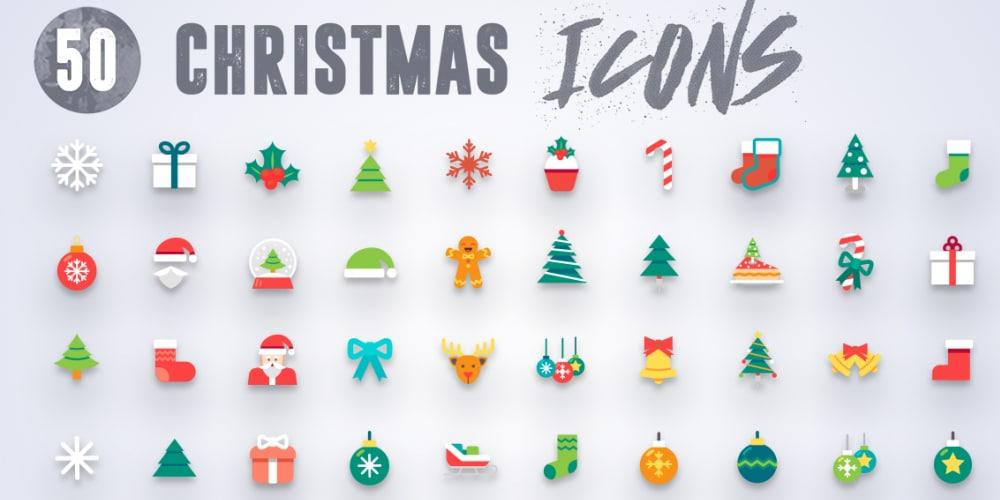 50 Free Christmas Icons