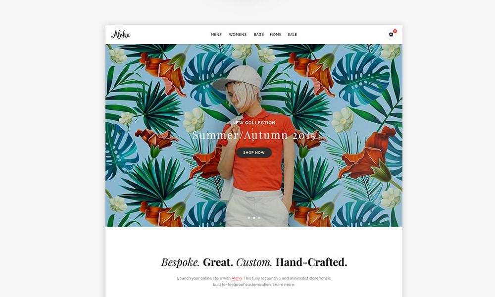 Aloha Shop Free Responsive Web Template
