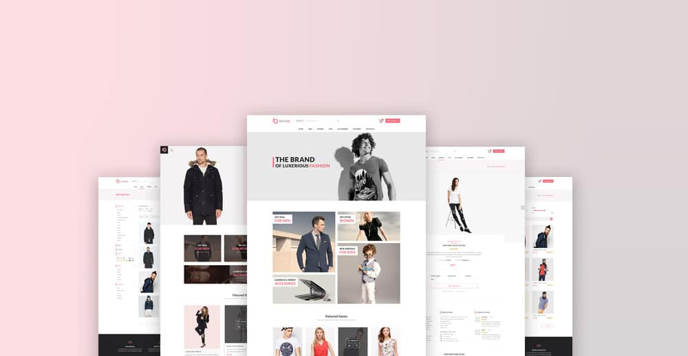 Brand Fashion Store Template PSD