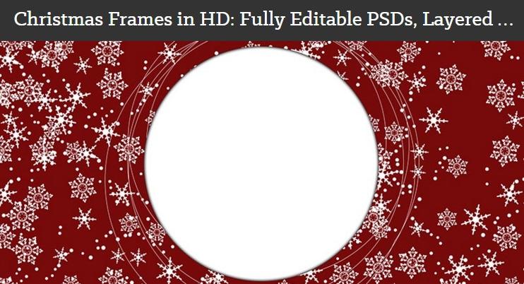 Christmas Frames PSD