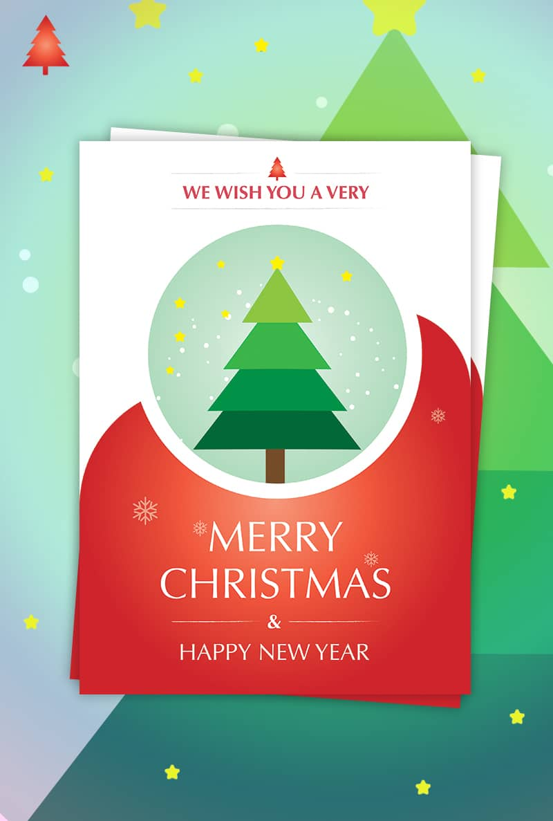 Christmas & New Year Card Design