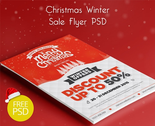 Christmas Winter Sale Flyer PSD