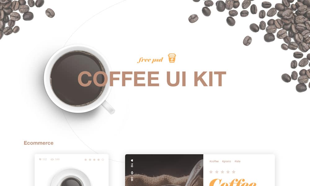 Coffee UI Kit PSD