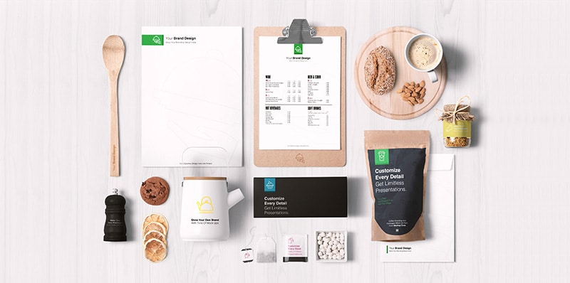 Food Packaging & Branding MockUps PSD