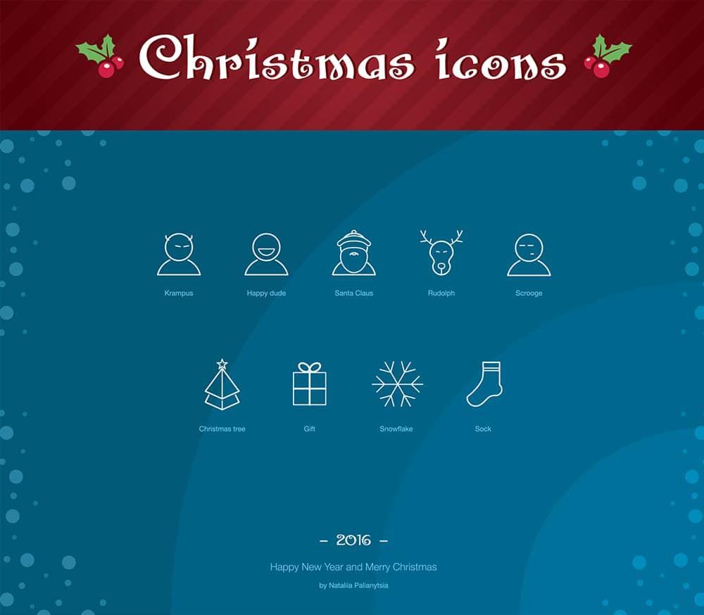 Free 2016 Christmas Icons