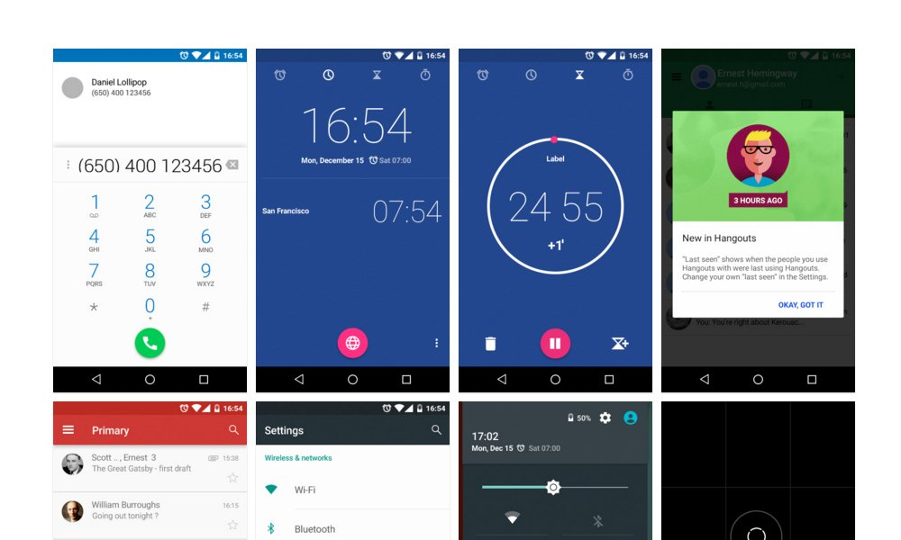 Free Android Lollipop UI Kit