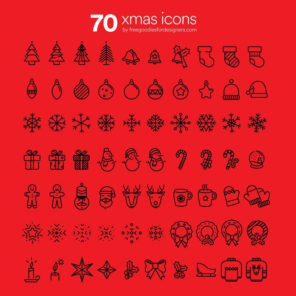 Free Awesome Xmas Icons