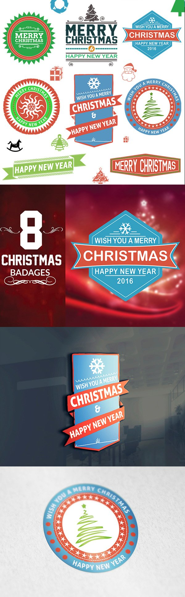 Free Christmas Badges