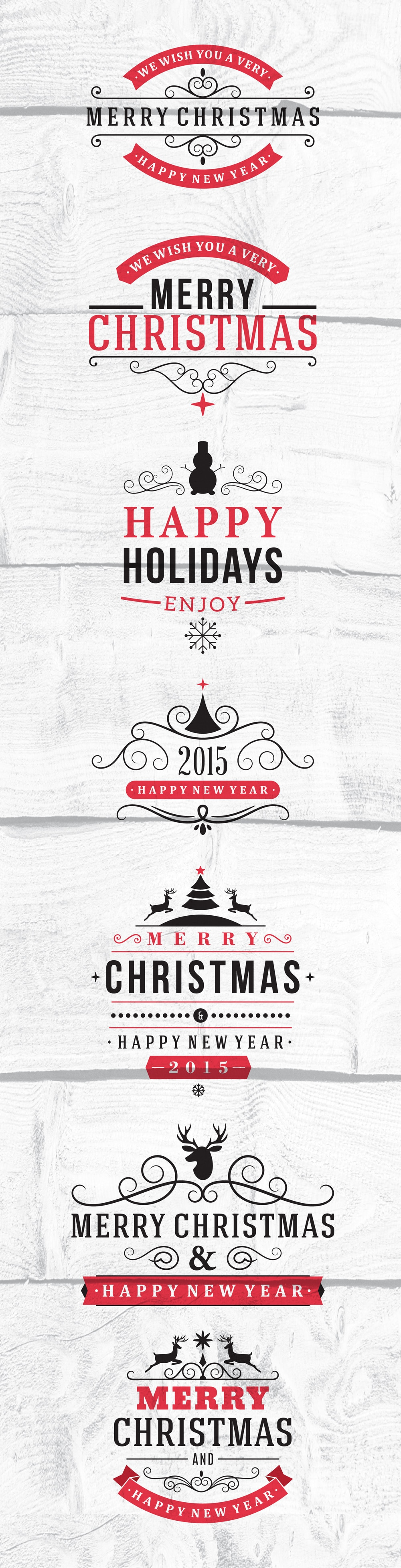 Free Christmas Calligraphic and Typographic Design Vector