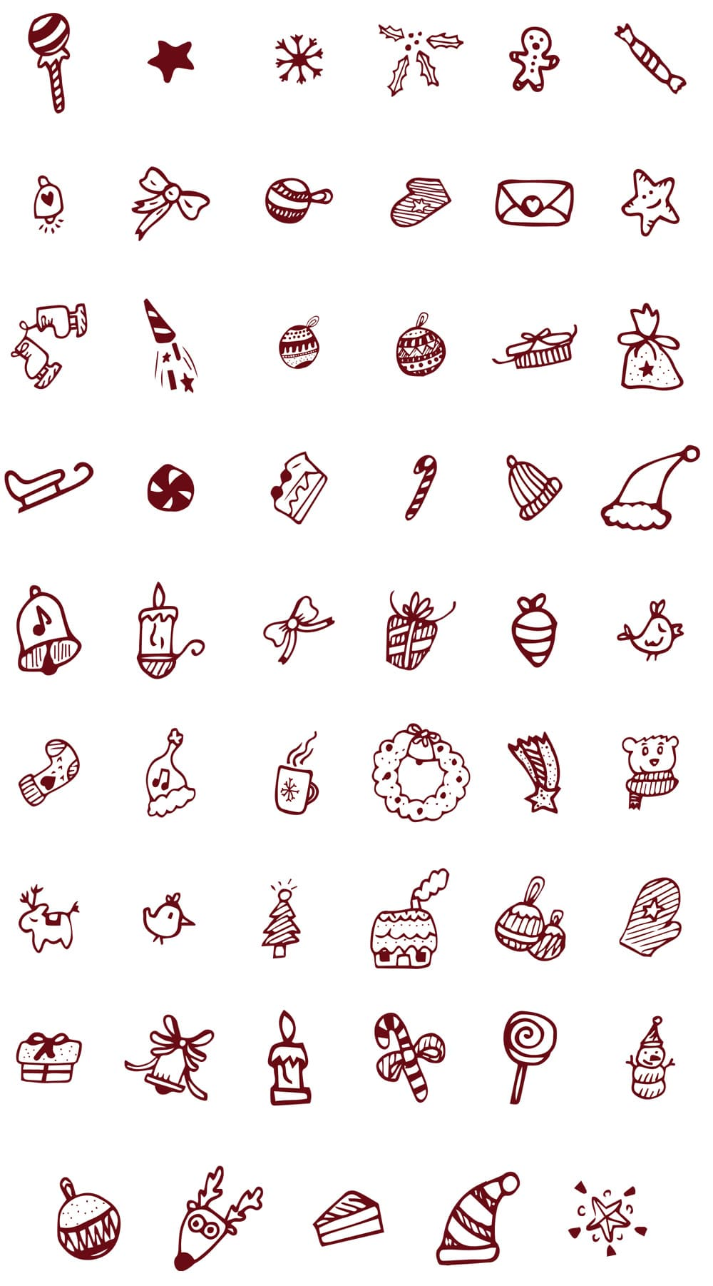 Free Christmas Doodled Icons