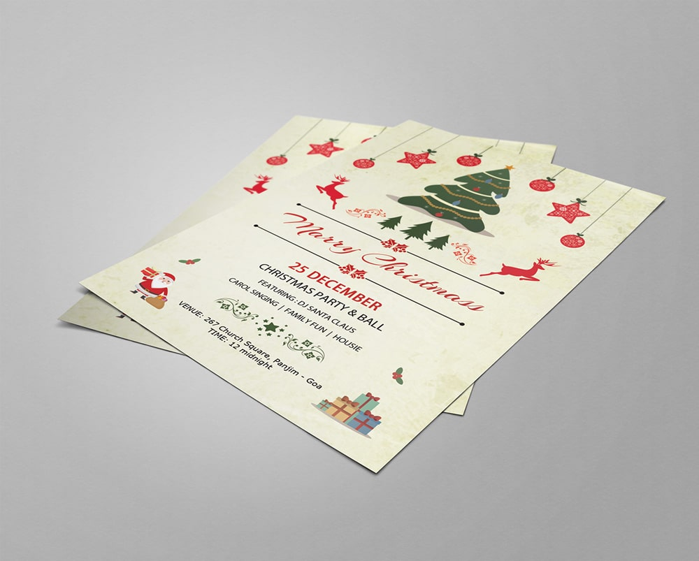 Free Christmas Party Flyers PSD