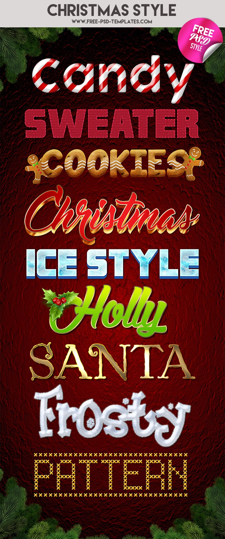 Free Christmas Style In PSD
