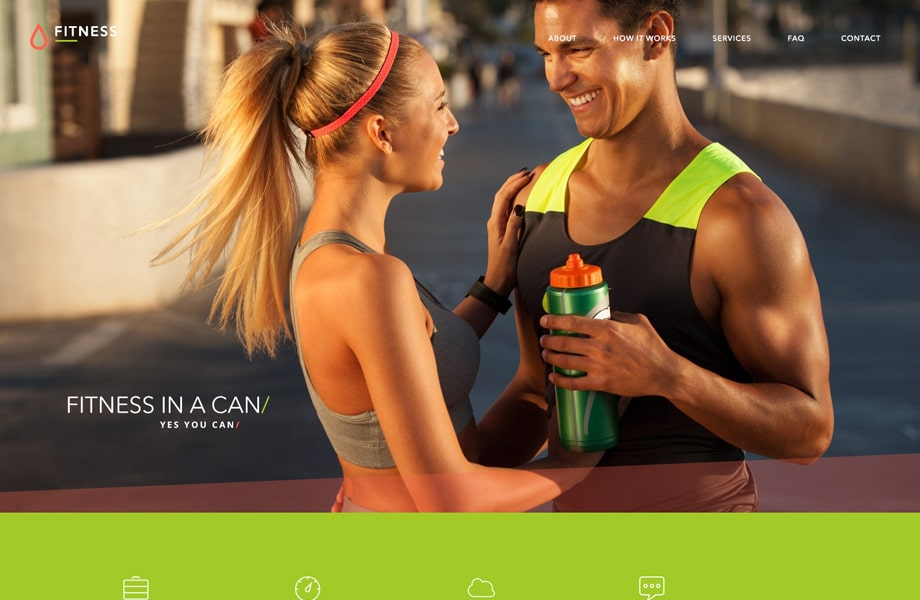 Free Fitness Web Template PSD