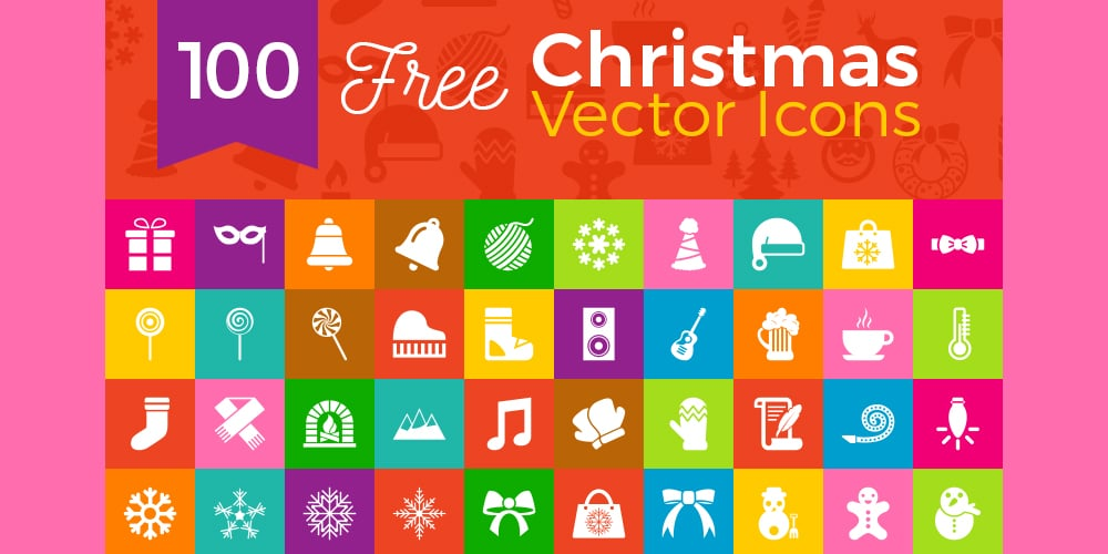 Free Flat Beautiful Christmas Icons