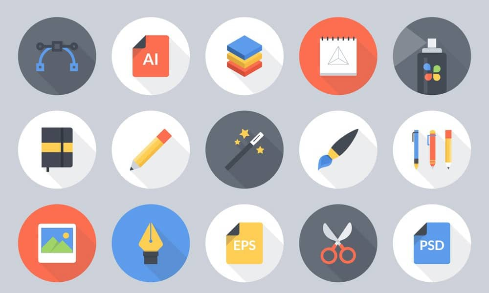 Free Flat Vector Art Tools Icons