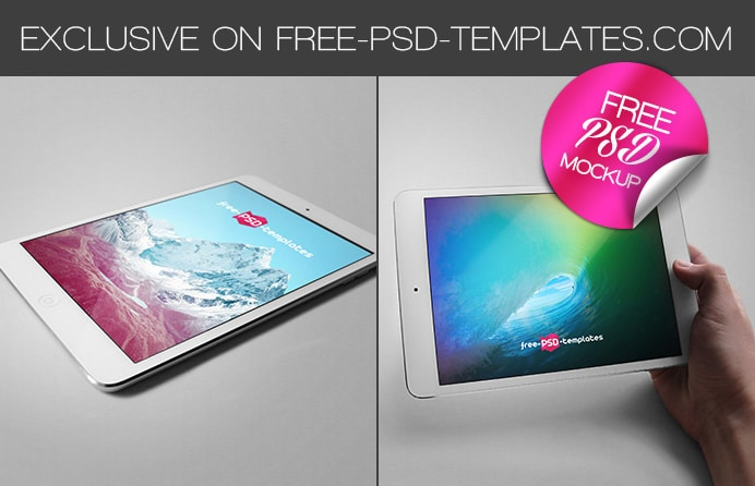 Free Ipad Tablet Mockups PSD
