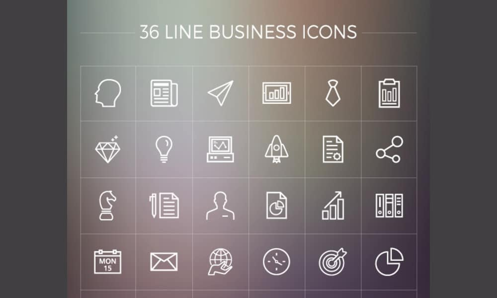 Free Line Business Icons