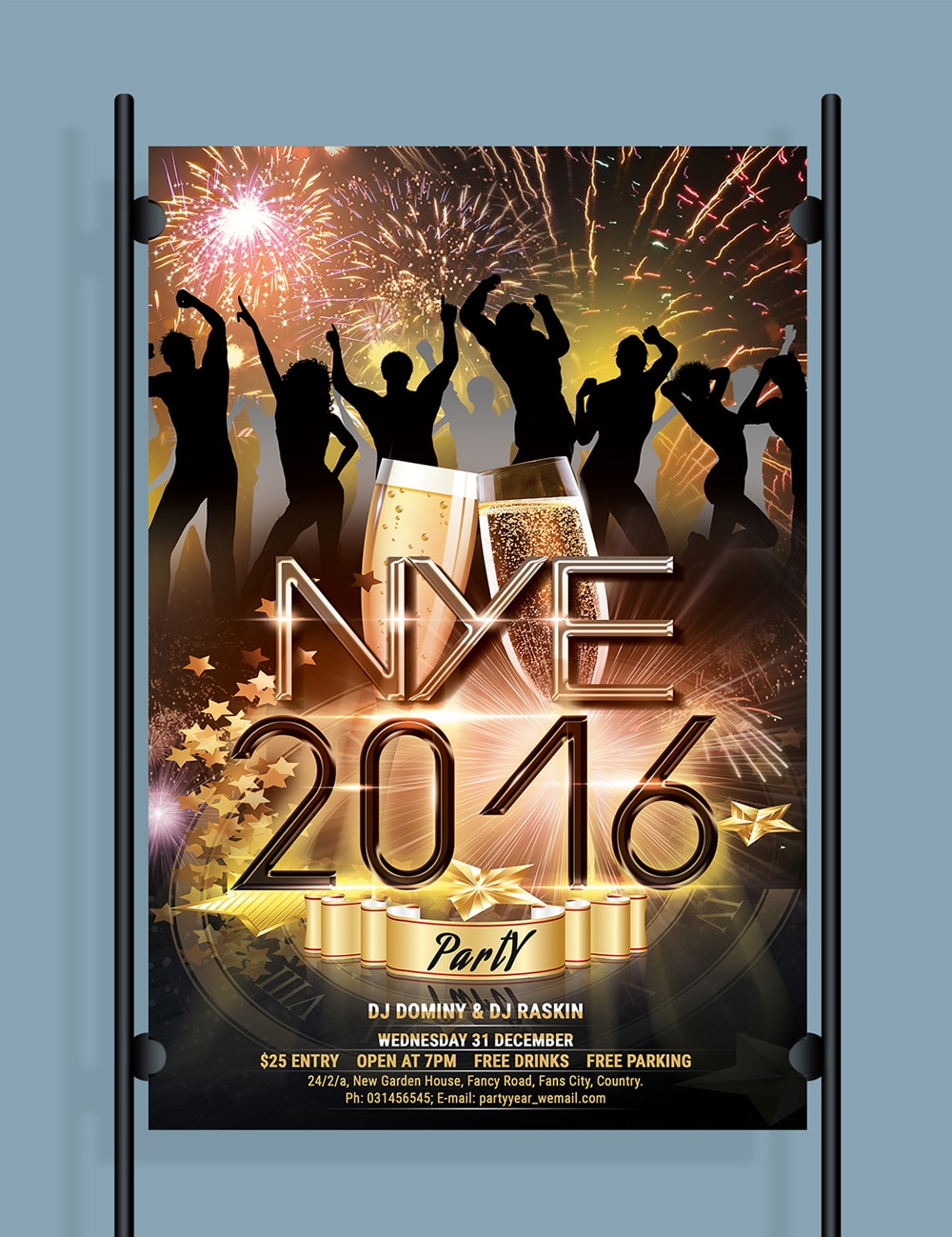 Free New Year Flyer PSD