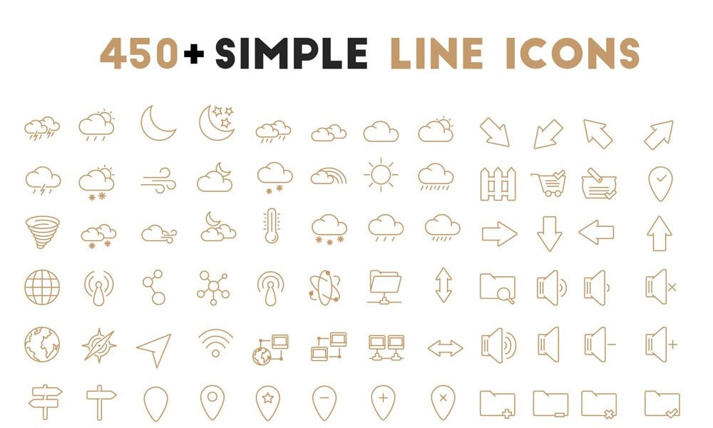 Free Simple Oultine Icons