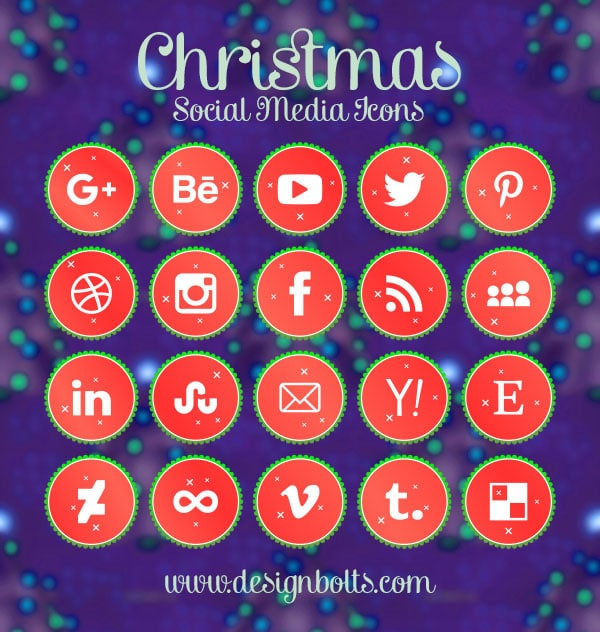 Free Vector Christmas Social Media Icons