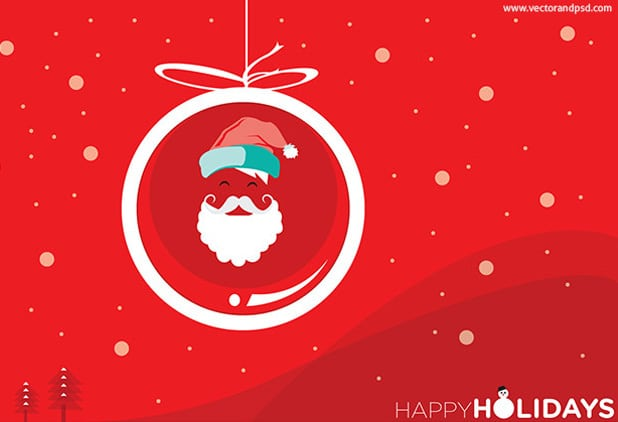 Happy Holidays Greeting Card PSD