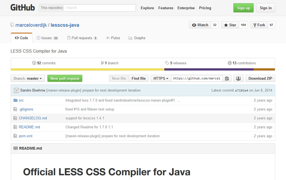 LESS CSS Compiler for Java
