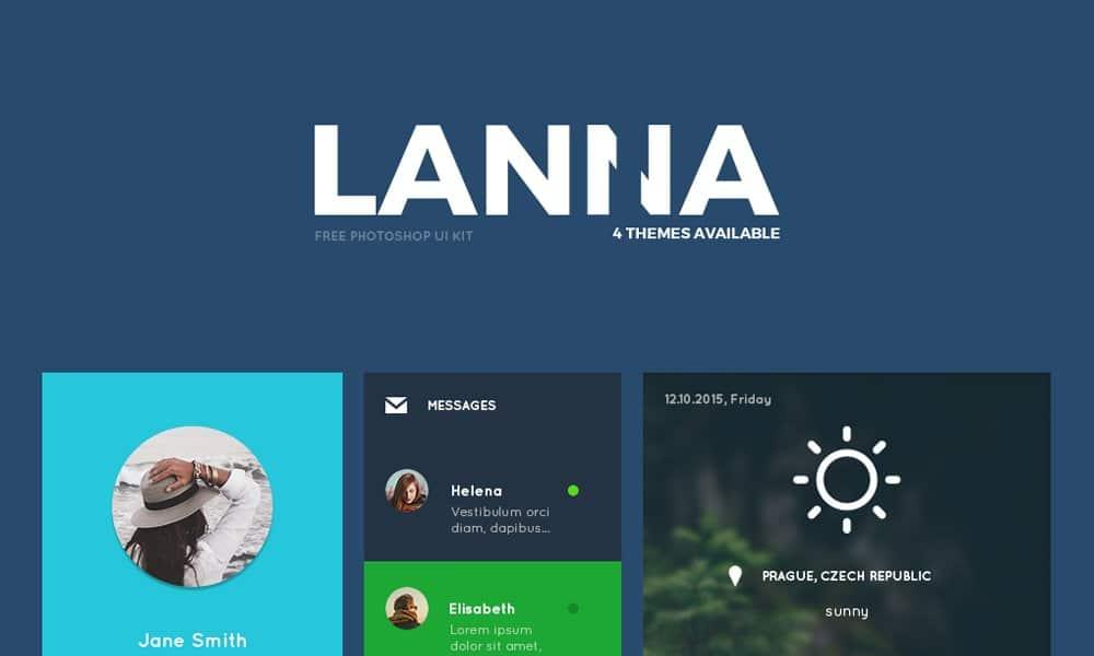 Lanna Free UI Kit PSD