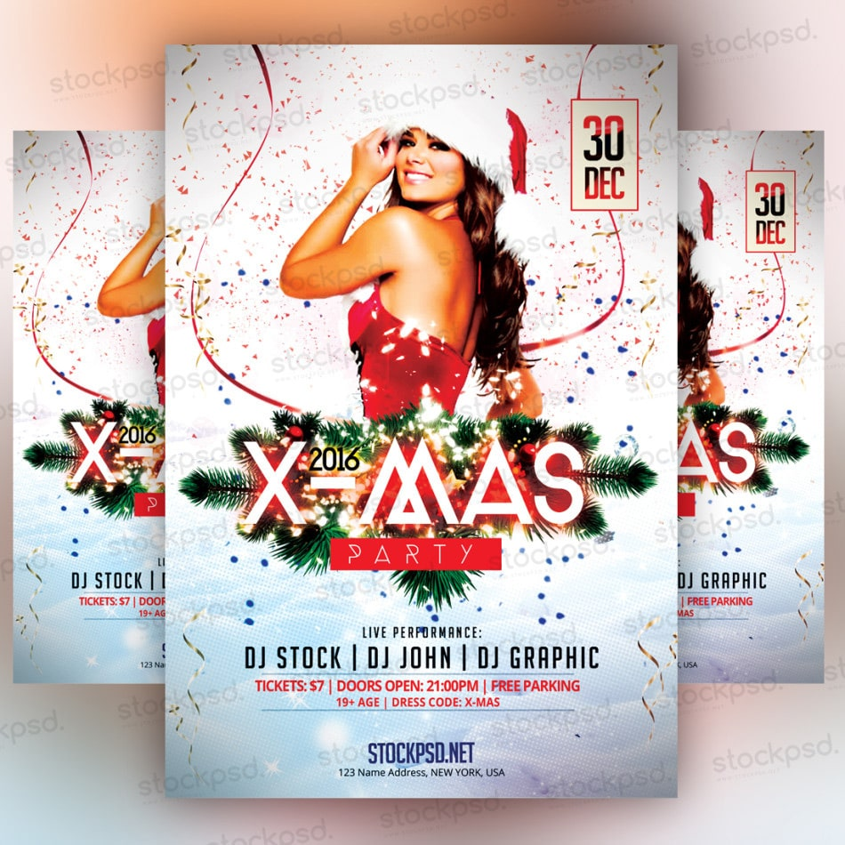 XMas Flyer Template PSD