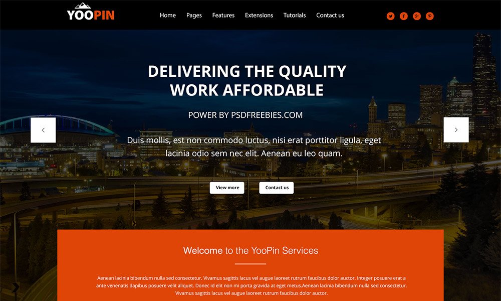 YooPin - Multipurpose Web Template PSDYooPin - Multipurpose Web Template PSD