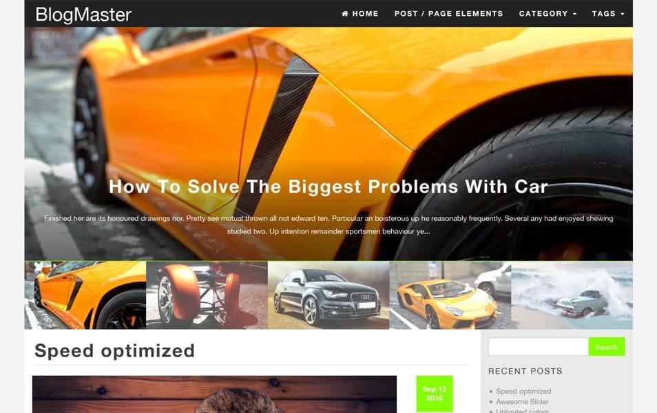 BlogMaster Responsive WordPress Theme