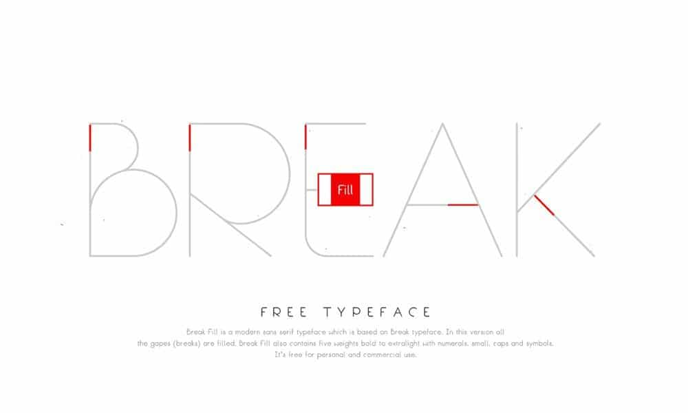 Break Fill Font