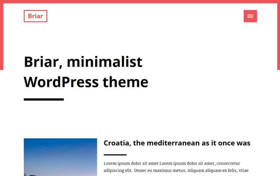 Briar Responsive WordPress Theme