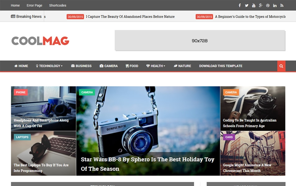 Cool Mag Responsive Blogger Template