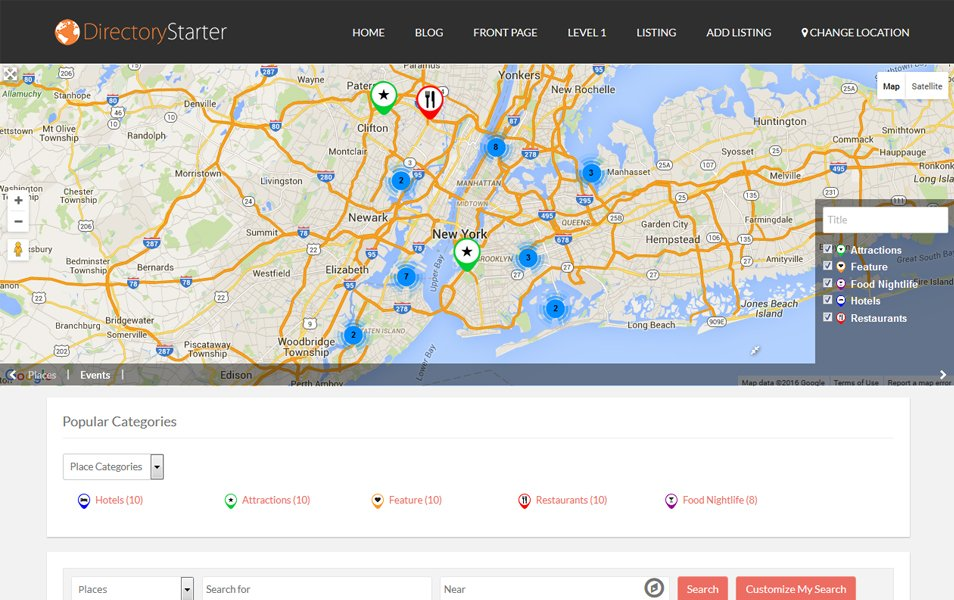 Directory Starter Responsive WordPress Theme