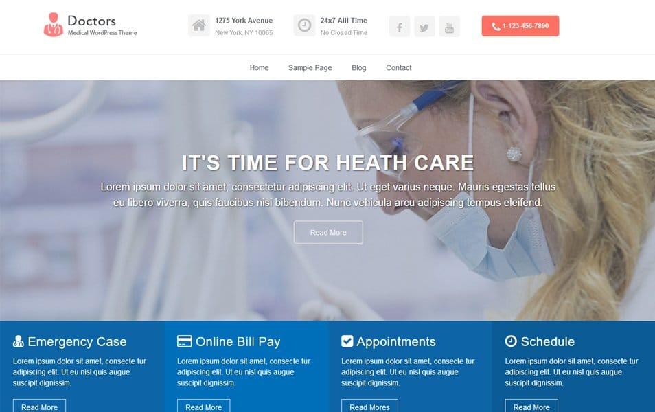 Doctors Responsive WordPress Theme