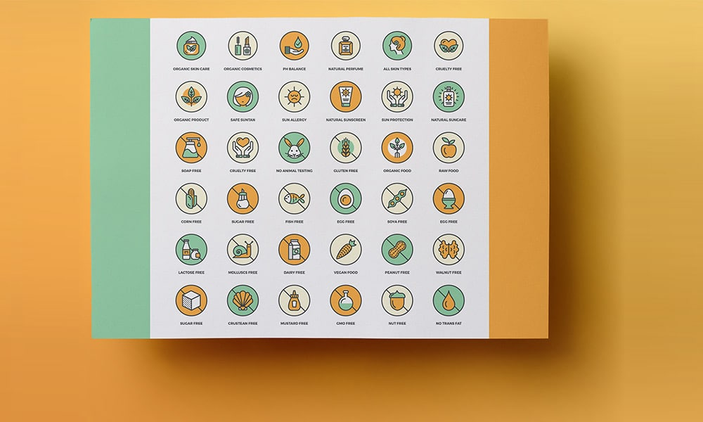Free Allergy Info Cosmetic and Food Icons