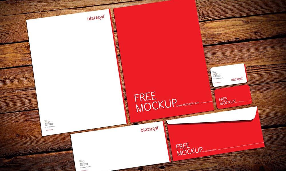 Free Stationery Mockup PSD