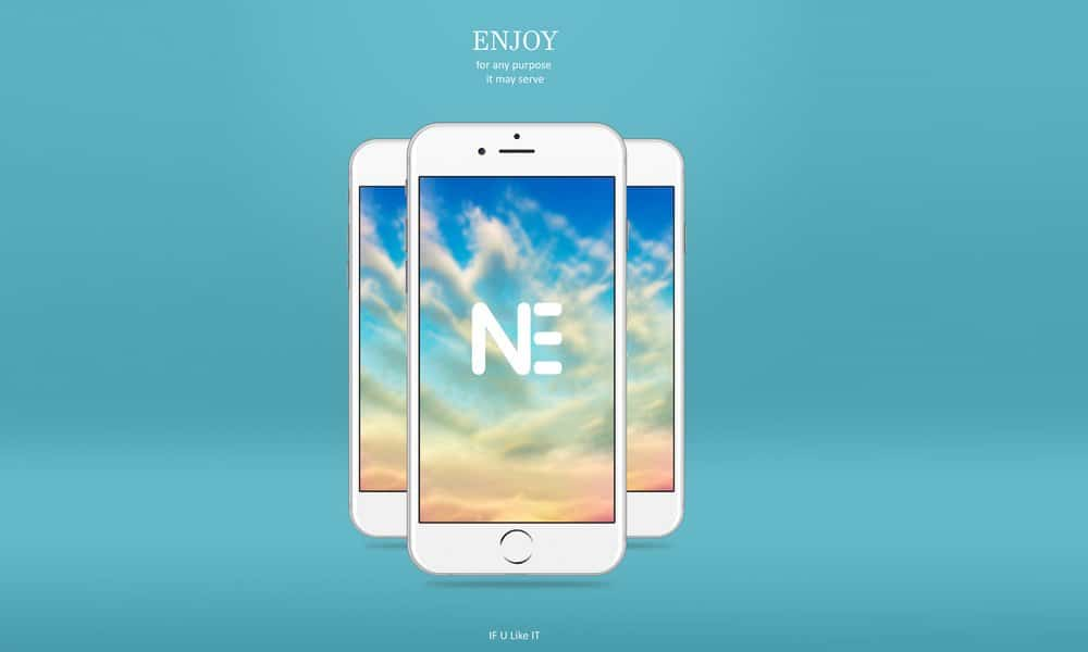 Free iphone 6s Mockup PSD