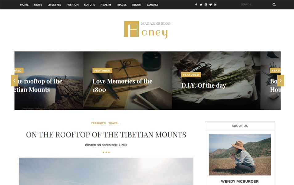 Honey Responsive Blogger Template